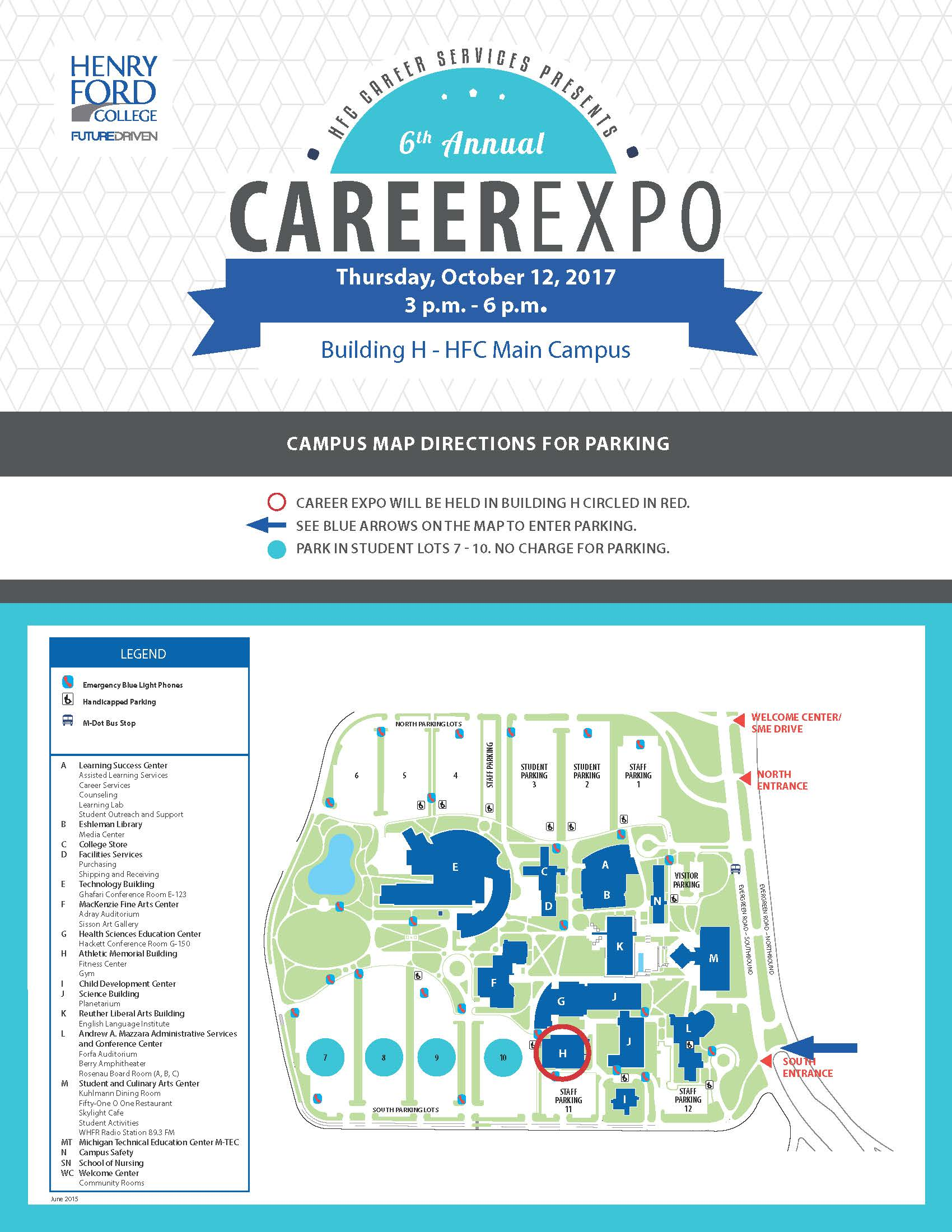 henry ford campus map Career Expo Information For Employers Career Services henry ford campus map